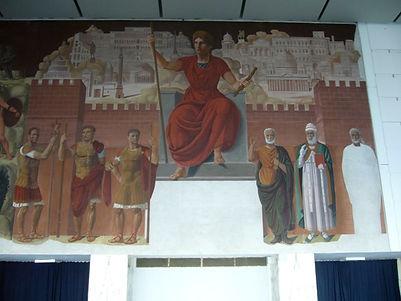 Achille Funi fresco Palazzo dei Congressi EUR