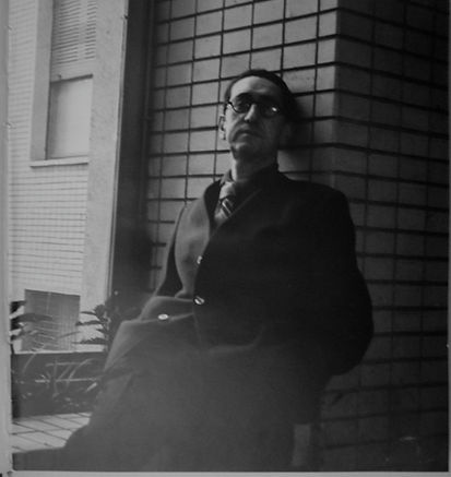 Giuseppe Pagano in front of Bocconi University Milan