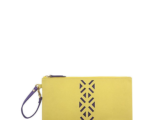 Leather PractiPouch Large - Canary Yellow