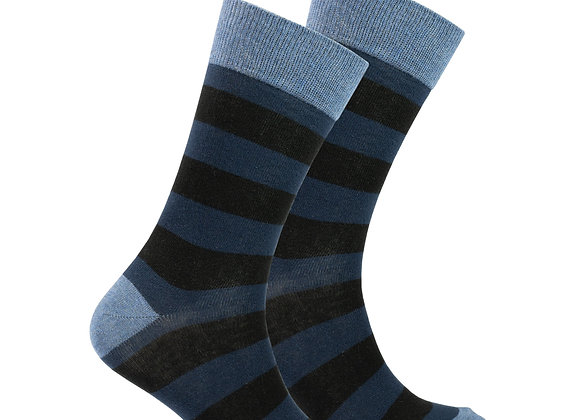 Men's Azure Stripe Socks