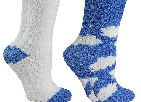 Women's Non-Skid Lavender Infused Slipper Socks, 2-Pair Pack
