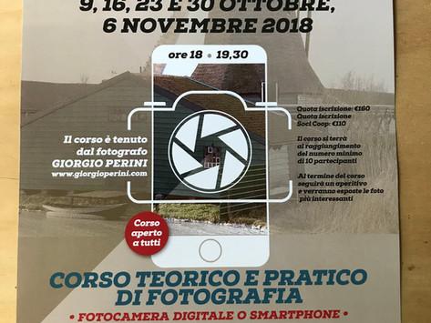 Corso di fotografia per reflex e smartphone - la prima lezione è stata prorogata al 30 ottobre
