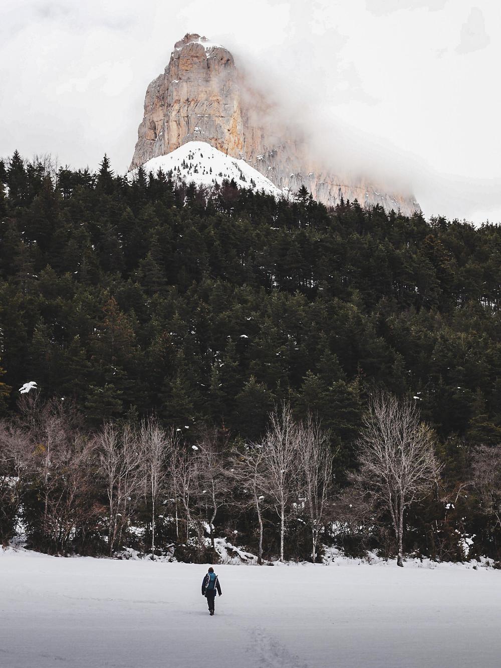 Mont Aiguille en hiver