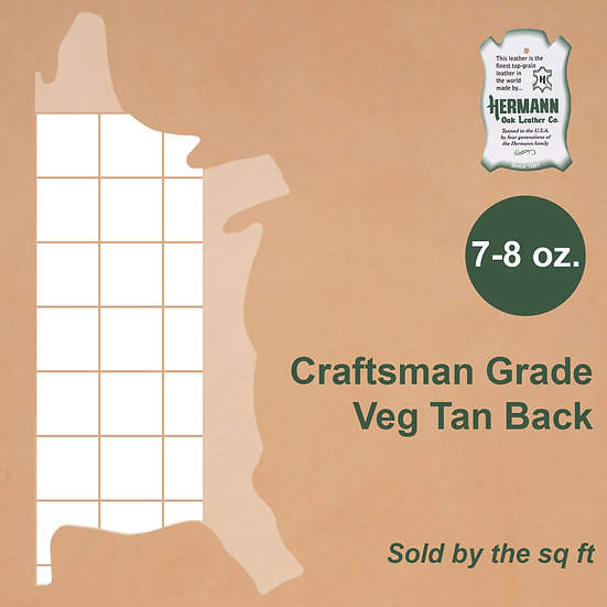 Спина HERMANN OAK CRAFTSMAN BACK 7-8 OZ.