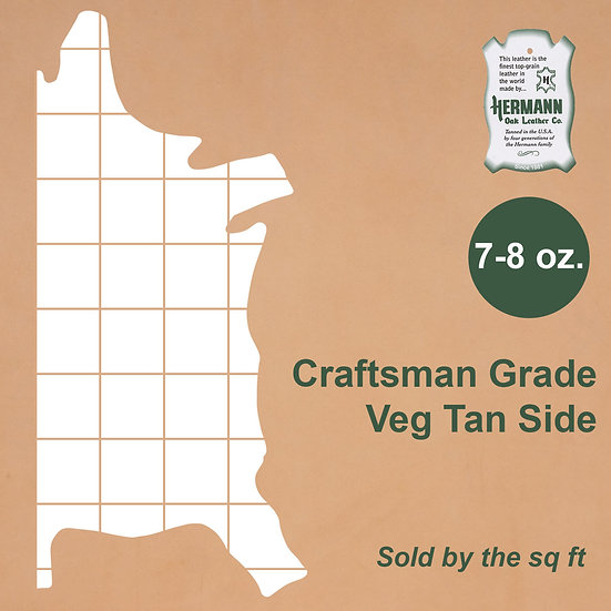Полукожник HERMANN OAK CRAFTSMAN GRADE VEG TAN 7-8 OZ.