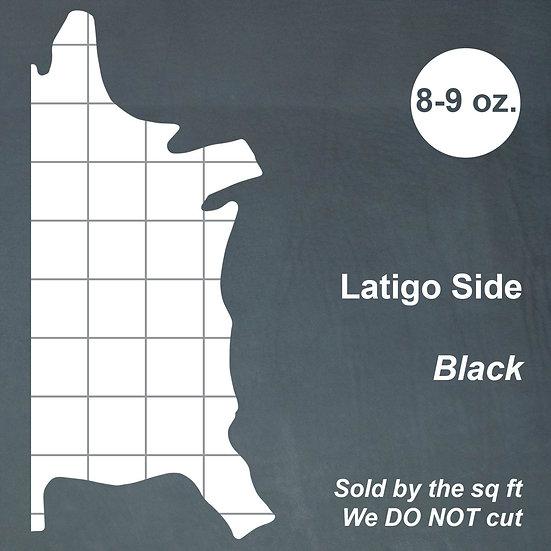 Кожа Латиго LATIGO SIDE - BLACK 8-9 OZ.
