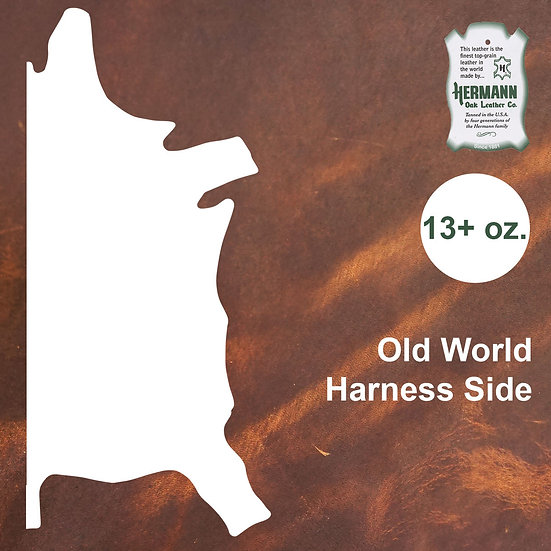 Полукожник HERMANN OAK OLD WORLD HARNESS SIDE 13+ OZ.