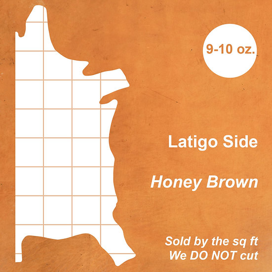 Кожа Латиго HONEY BROWN LATIGO SIDE 9-10 OZ.