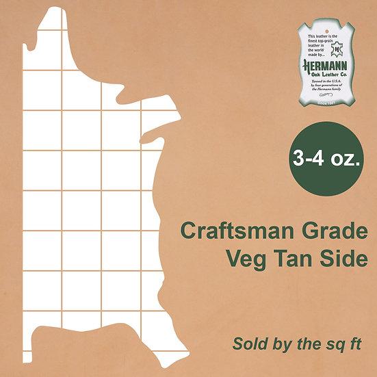 Полукожник HERMANN OAK CRAFTSMAN GRADE VEG TAN 3-4 OZ.
