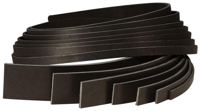 """Полоса VEG-TAN BLACK COWHIDE STRIP - 48"""""""