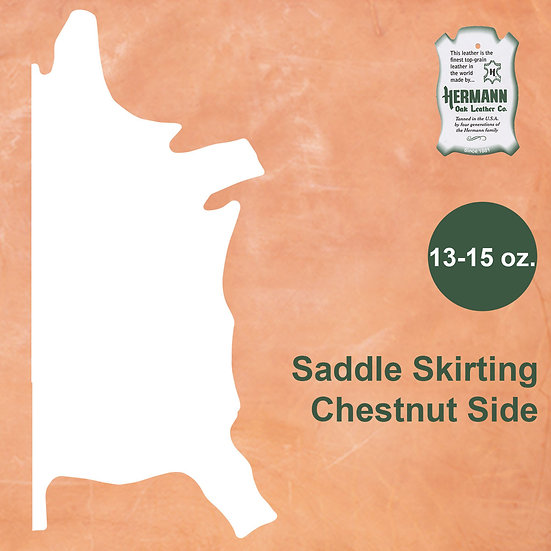 Шорно-седельная HERMANN OAK SADDLE SKIRTING SIDE - CHESTNUT 13-15 OZ.