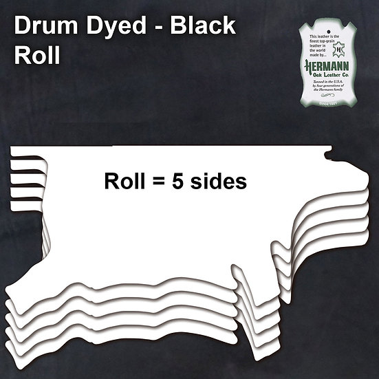 Полукожник HERMANN OAK BLACK DRUM DYED - ROLL