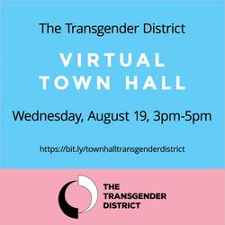 Transgender District Virtual Town Hall