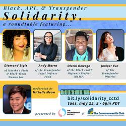 Black, API, & Trans Solidarity