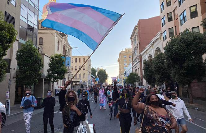Bay Area Reporter: Hundreds show support for black trans rights in Tenderloin protest