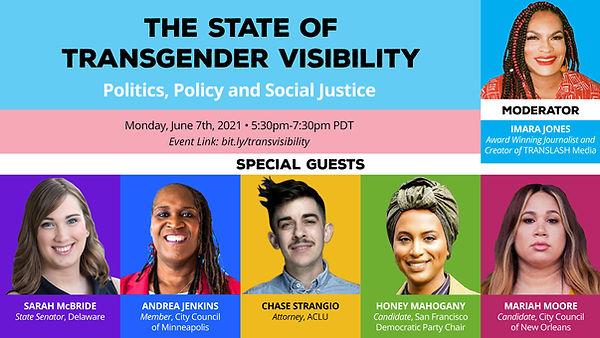 Trans Visibility: Politics, Policy Social Justice