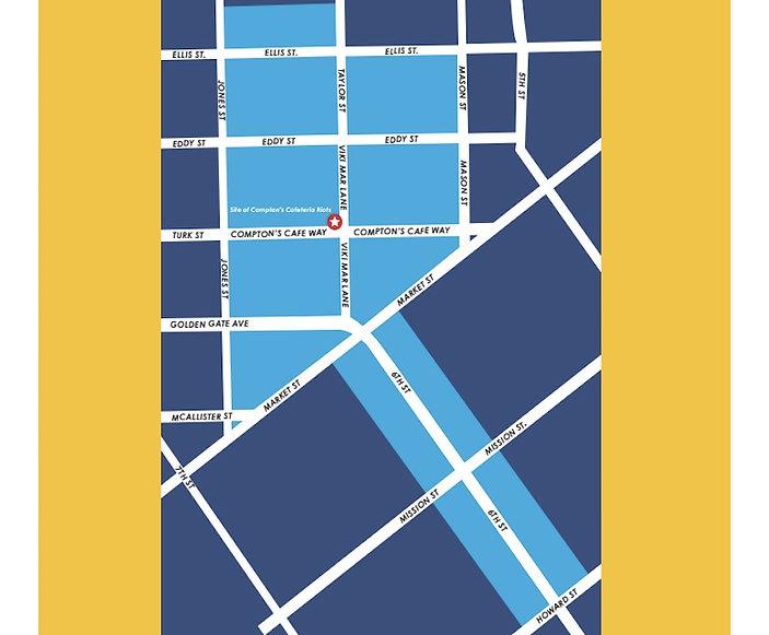 Compton's Trans Cultural Distict map