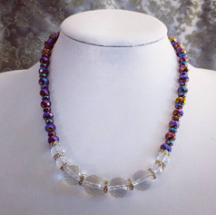 Faceted Quartz Necklace