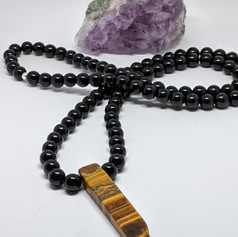 Onyx and Tiger Eye Necklace