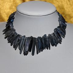 Tanzine Aura Quartz Point Necklace
