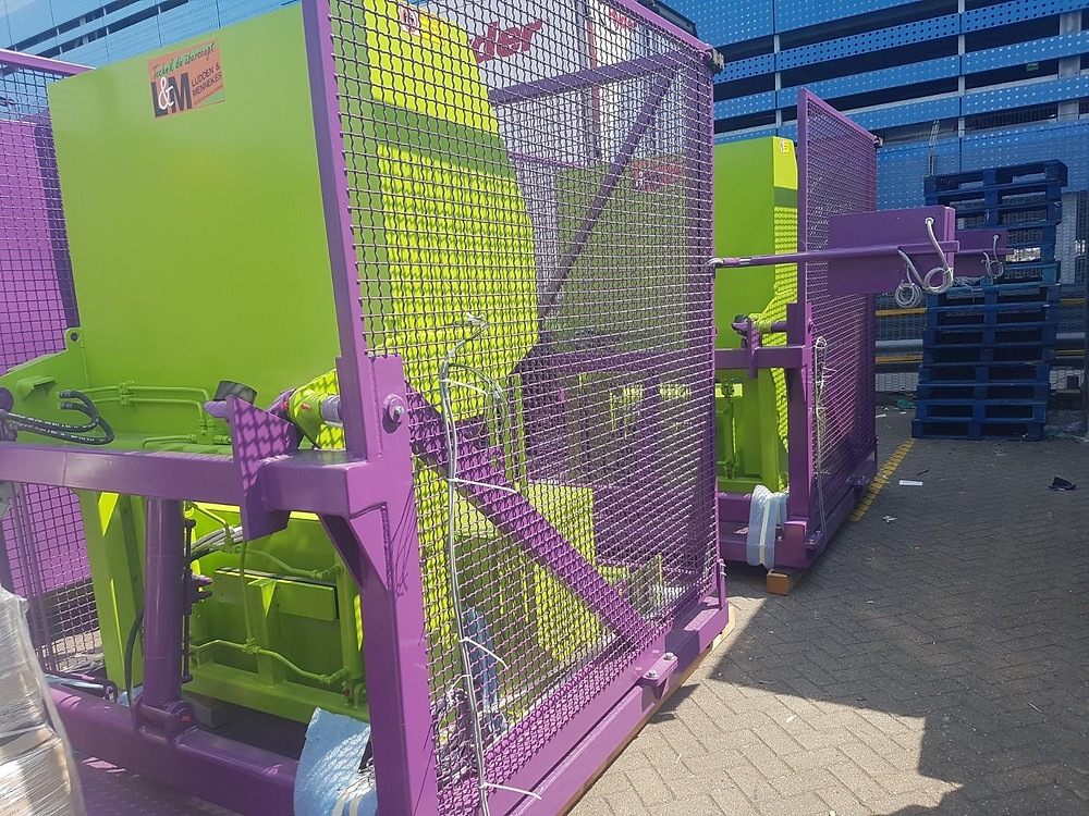 Portable Compactor Bin Tippers and Safety Cage