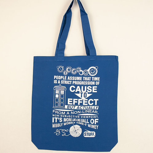 Dr. Who Time Tote Bag- Gusseted