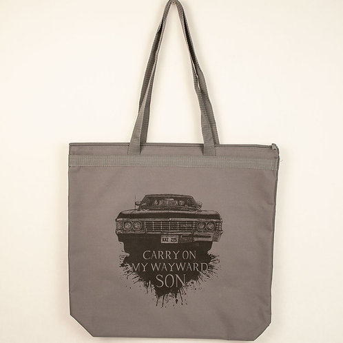 Carry on my Wayward Son Tote Bag- Large
