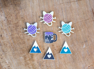 New to Our Shop: Enamel Pins