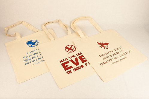 Hunger Games Tote Bags- Set of 3