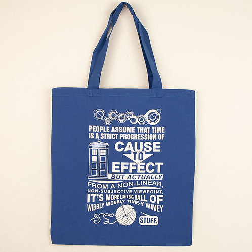 Dr. Who Time Tote Bag- No Gussets