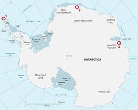 Ключевые участки исследований в Антаркти