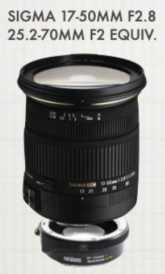 Sigma 17-50mm F2.8のレンズサポート方法確立