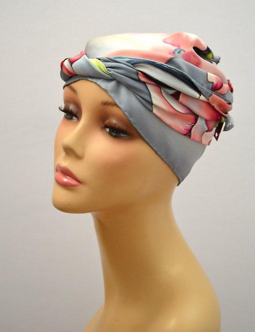 "Шелковый шарф ""Маки"", ручная роспись, 20х175, 100% шелк"