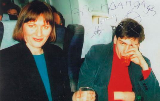 1996 с Д_Коганом на пути из Вашингтона в