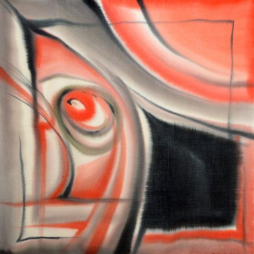 """Шерстяной платок (серия """"Абстракция""""), 110х110, 100% шерсть"""