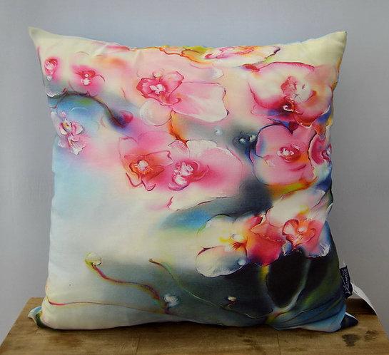 "Наволочка на подушку-думку ""Орхидеи"", 37х3"