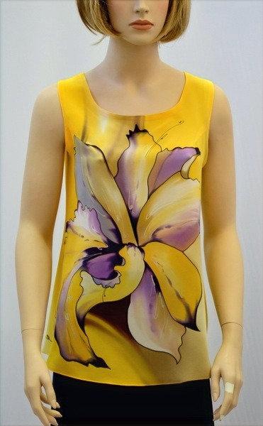 """Блуза """"Тайский цветок"""" в медовых тонах"""