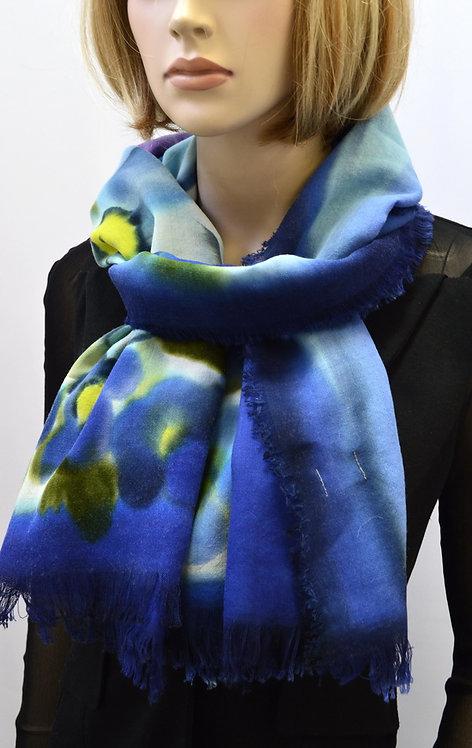 Шерстяной шарф, 45х175, ручная роспись