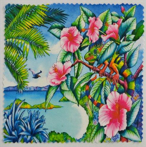 """Салфетка для очков """"Цветы и птицы"""", №4"""