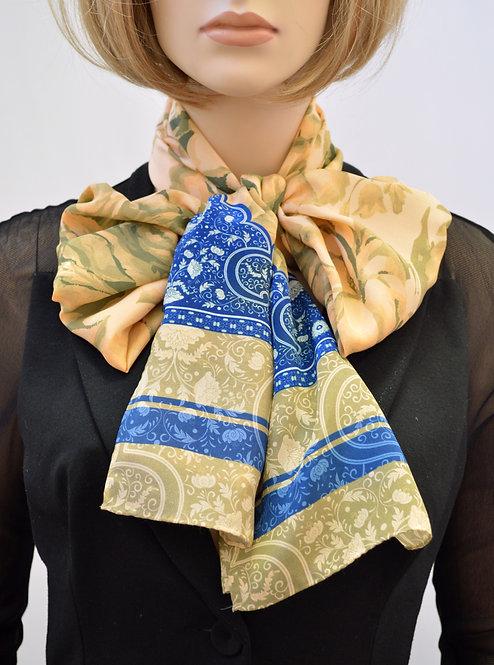 """Шелковый шарф """"Птицы"""", 40х175, 100% шелк"""
