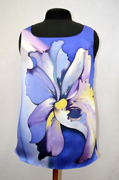 """Блуза """"Тайский цветок"""" в сине-голубых тонах"""