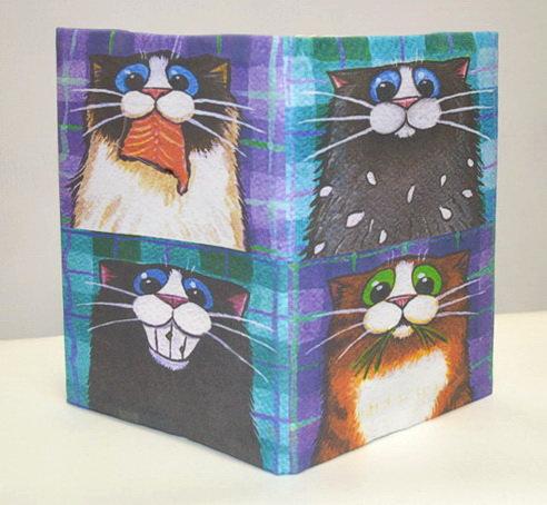 "Обложка для блокнота ""Котики"""