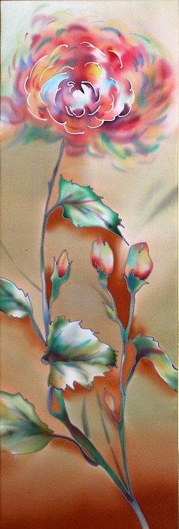 "Картина ""Осень"", ручная роспись, 100% шелк, 22х70"