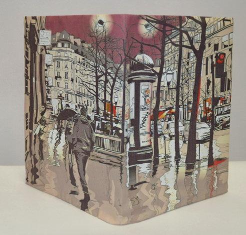 """Обложка для блокнота """"Парижские мотивы"""""""