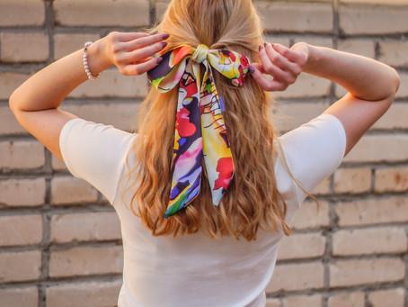 Шелковый шарф - twilly - малышка со вкусом
