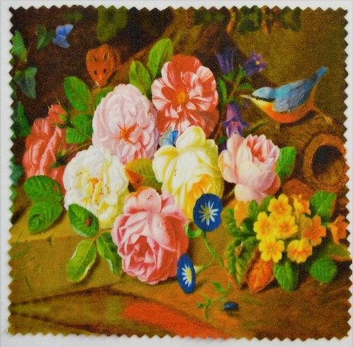 """Салфетка для очков """"Цветы и птицы"""",№2"""