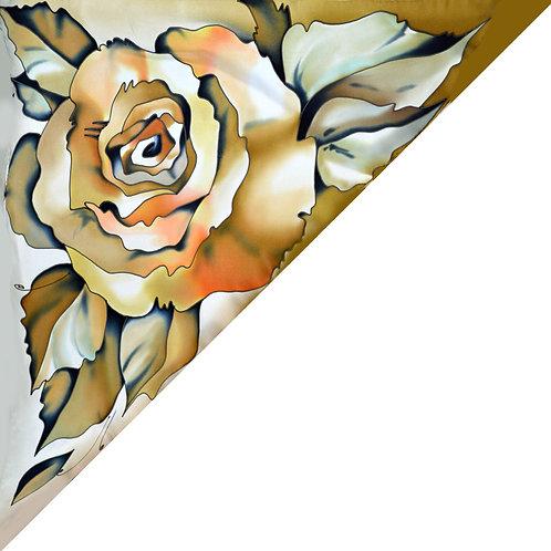 """Шелковая косынка """"Роза""""  70х70, 100% шелк"""