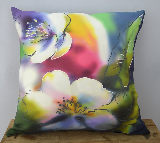 """Наволочка на подушку-думку """"Цветы"""", 37х3"""