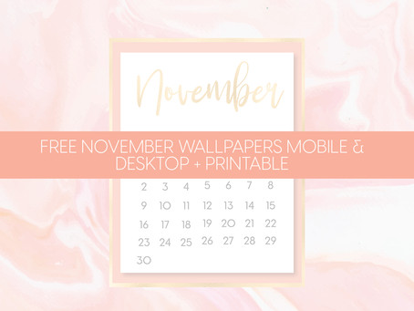 Pretty in pink - November calendar freebies 🌸