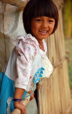 Leaning Village Girl